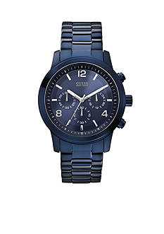 GUESS Men's Blue-Tone Chronograph Watch