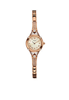 GUESS Women's Feminine Rose Gold Tone Bracelet Watch