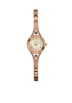GUESS Women's Feminine Rose Gold-Tone Bracelet Watch