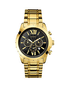 GUESS Black and Gold-Tone Roman Numeral Chronograph Watch