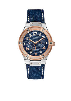 GUESS Jet Setter Denim Watch