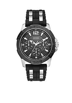 GUESS Masculine Sport Black Silicone Watch