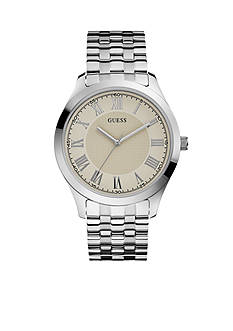 GUESS Men's Polished Steel Classic Roman Numeral Watch