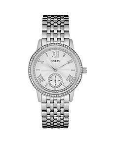 GUESS Women's Silver-Tone Classic Dress Watch