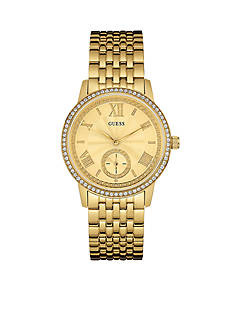 GUESS Women's Gold-Tone Classic Dress Watch