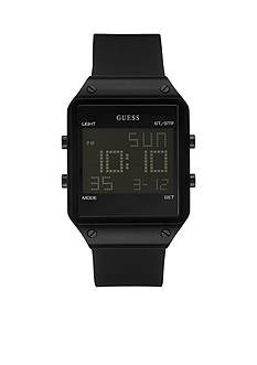 GUESS Black Ionic Plating Sleek Digital Watch