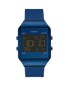 GUESS Blue Ionic Plating Sleek Digital Watch