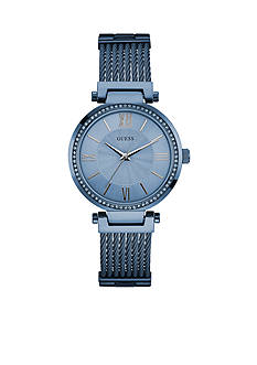 Guess Women's Blue Chronograph Watch