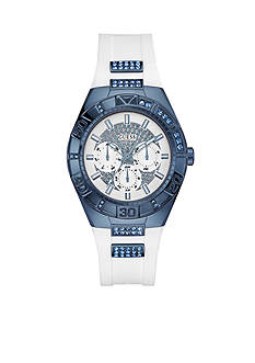 GUESS Women's Silicone Strap Watch