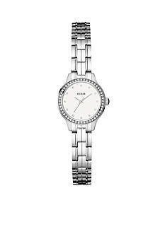 GUESS Women's Crystal Stainless Steel Bracelet Watch