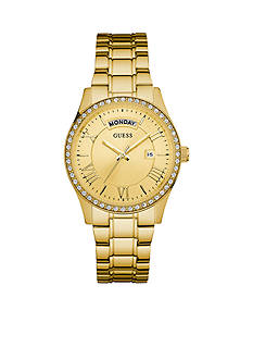GUESS Gold-Tone Classic Style Dress Watch