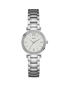 GUESS Women's Silver Petite Dress Watch