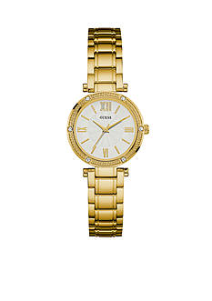 GUESS Women's Gold-Tone Petite Dress Watch