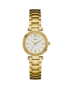 GUESS Women's Gold-Tone Petite Dress Watch