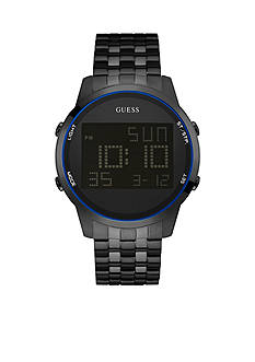 GUESS Men's Black Ionic Plating Digital Chronograph Watch