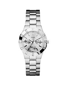 GUESS Women's Silver-Tone Multi-Function Watch