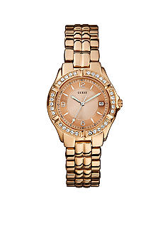 GUESS Women's Sporty Rose Gold Mid-Size Watch