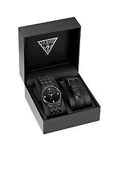 GUESS Men's Diamond Accent Watch with Interchangeable Strap