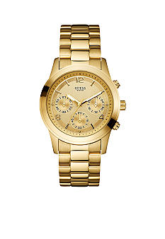 GUESS Women's Goldtone Chronograph Watch