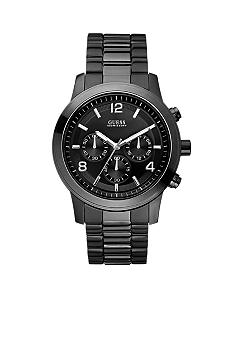 GUESS Men's Ionic Black Plated Chronograph Watch