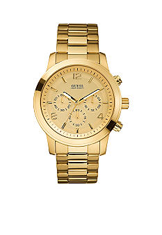 GUESS Men's Goldtone Chronograph Watch