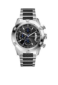 GUESS Stainless Steel Sport Chronograph With Carbon Fiber Look Bracelet
