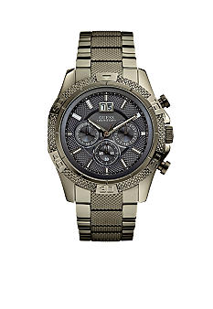 GUESS Men's Gunmetal Steel Chronograph Watch