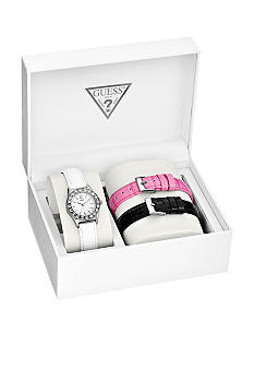 GUESS Interchangeable Leather Strap Boxed Set