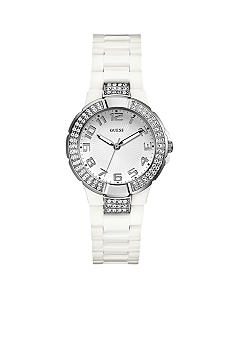 GUESS White Polycarbonate Bracelet Watch