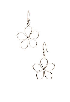 Belk Silverworks Sterling Silver Open Flower Earrings