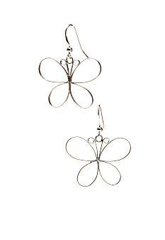 Belk Silverworks Sterling Silver Butterfly Earrings