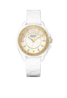 COACH BOYFRIEND SILICON RUBBER STRAP WATCH