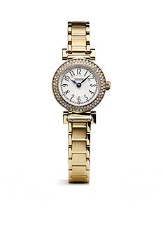COACH WOMEN'S MADISON GOLD-PLATED MINI CRYSTAL BRACELET WATCH