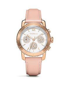 COACH LEGACY SPORT ROSE GOLD PLATED STRAP WATCH