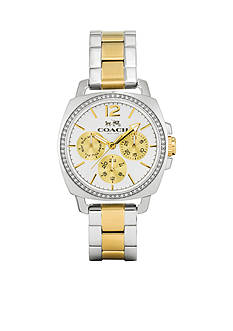 COACH BOYFRIEND SMALL TWO-TONE MULTIFUNCTION BRACELET WATCH