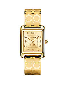 COACH PAGE GOLD BANGLE WATCH