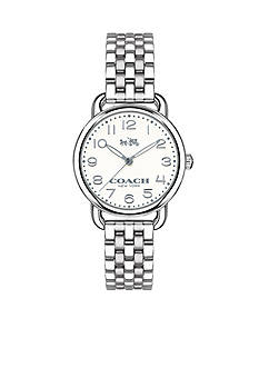 COACH DELANCEY SMALL STAINLESS STEEL BRACELET WATCH
