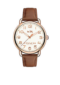 COACH Wiomen's Delancey Rose Gold-Plated Strap Watch