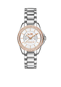 COACH Tristen Two-Tone Crystal Bracelet Watch