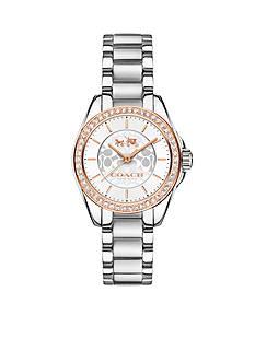 COACH Tristen Two-Tone Crystal Bracelet Watch