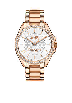 COACH Tristen Rose Gold-Plated Bracelet Watch