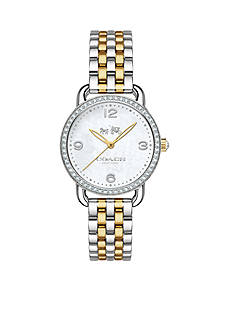 COACH Women's Delancey Two-Tone Bracelet Watch