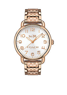 COACH WOMEN'S DELANCEY ROSE GOLD-PLATED BRACELET WATCH