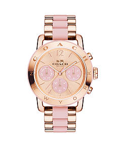 COACH Women's Legacy Sport Rose Gold-Plated Bracelet Watch