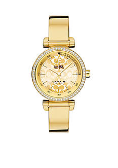 COACH Women's 1941 Sport Gold Plated Bangle Watch