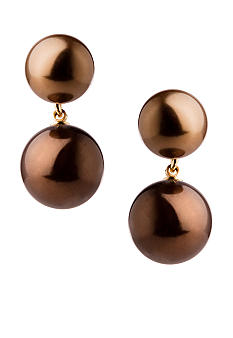 Carolee Sable Double Drop Pearl Earring