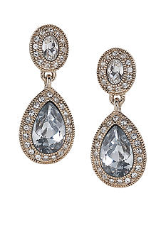 Carolee Champagne Toast Pave Stone Double Drop Earring