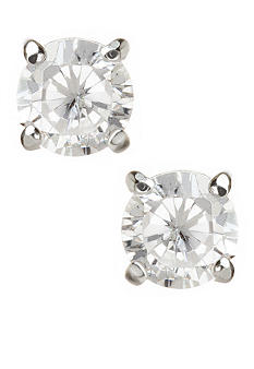 Carolee Round CZ Stud Earrings