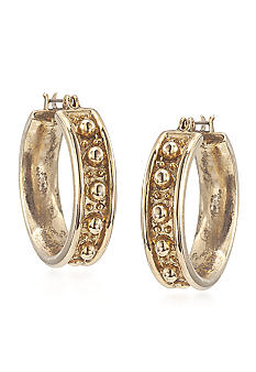 Carolee 40th Anniversary Textured Hoop Pierced Earrings