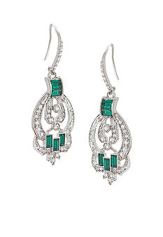 Carolee Emerald Estates Stone Set Drop Earrings
